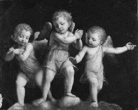 Three Cherubs - Black and white