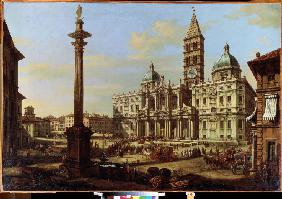 The Piazza and Church of Santa Maria Maggiore in Rome