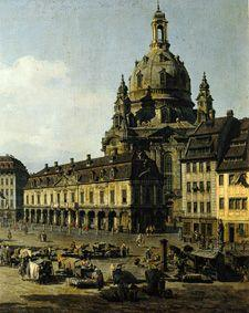 The new market in Dresden of Moritz -- Strasse out