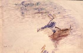Sketch of a Young Woman in a Boat