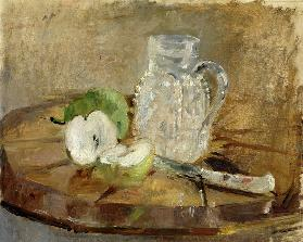 Still Life with a Cut Apple and a Pitcher