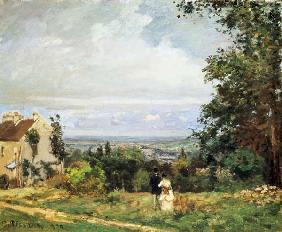 Pissarro, Camille : Countryside at Louvecienne...