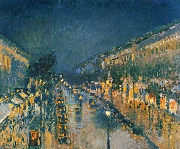 Boulevard Montmartre, at night