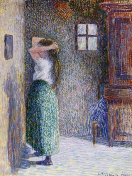 Pissarro, Camille : Woman in front of a mirror