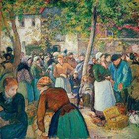 Pissarro, Camille : The poultry market, Gisors