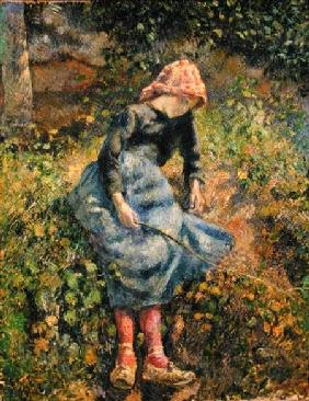 Pissarro, Camille : Girl with a Stick