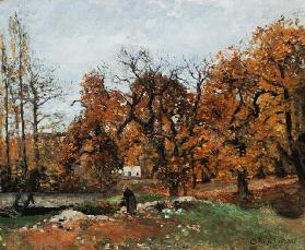 Autumn countryside at Louveciennes. 1871/1872