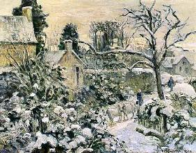Pissarro, Camille : Effect of Snow with Cows a...