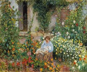 Pissarro, Camille : Mother and Child in the Fl...