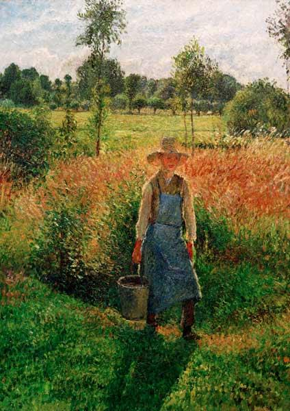 Pissarro, Camille : The gardener, after-midday...