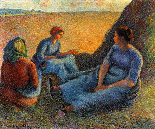 Pissarro, Camille : Rest at the hay harvest
