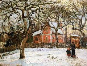 Pissarro, Camille : Chestnut Trees at Louvecie...