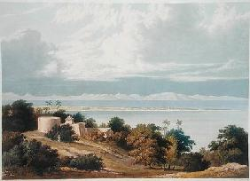 Approach of the Monsoon, Bombay Harbour, from a drawing by William Westall (1781-1850) from 'Scenery
