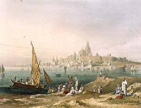 The Sacred Town and Temples of Dwarka, from Volume II of 'Scenery, Costumes and Architecture of Indi