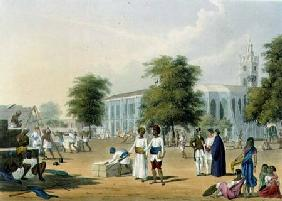 Scene in Bombay, from Volume I of 'Scenery, Costumes and Architecture of India', engraved by R.G. Re