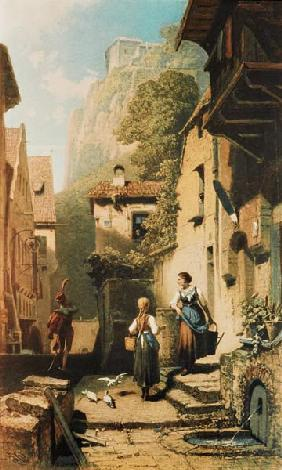 Spitzweg / The Hussar / Painting