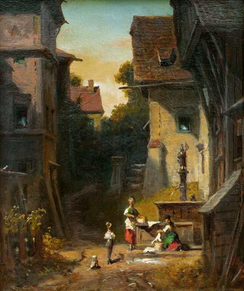 Spitzweg / At the City Well / c. 1865