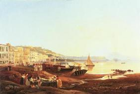 Mergellina Harbour, c.1831 (oil on canvas)