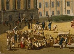Market in the Alter Markt, Potsdam, 1772 (detail from 330433)