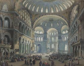 Interior of the Hagia Sophia in Constantinople