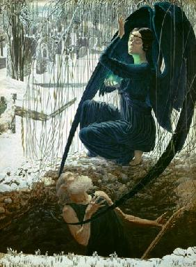 The grave-digger and the death angel 1895/1900