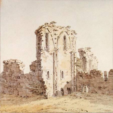 Reproducción impresa de  Ruinas de un monasterio (o Ruinas de una iglesia gótica)