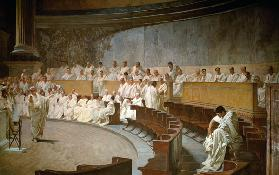 Cicero in the Senate Accusing Cataline 1889