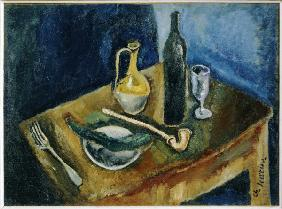 Still life with pipe