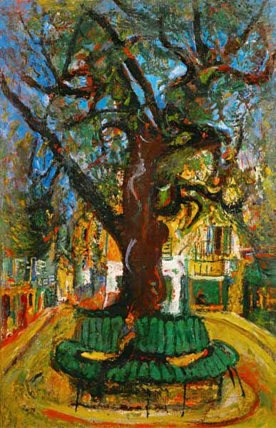 The tree in Vence / painti