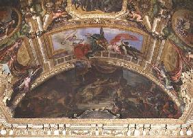 The Alliance of Germany and Spain with Holland, 1672, Ceiling Painting from the Galerie des Glaces