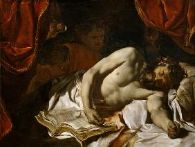Le Brun, Charles : The Death of Cato of Utica...
