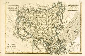 Asia, from 'Atlas de Toutes les Parties Connues du Globe Terrestre' by Guillaume Raynal (1713-96) pu