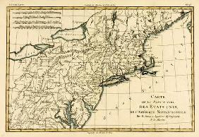 North-East Coast of America, from 'Atlas de Toutes les Parties Connues du Globe Terrestre' by Guilla