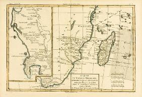 Southern Africa, from 'Atlas de Toutes les Parties Connues du Globe Terrestre' by Guillaume Raynal (