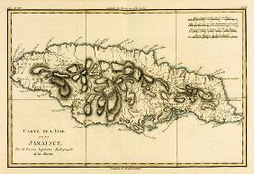 The Island of Jamaica, from 'Atlas de Toutes les Parties Connues du Globe Terrestre' by Guillaume Ra