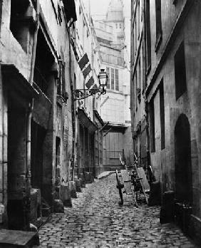 Rue du Haut Moulin, from rue de Glatigny, Paris, 1858-78 (b/w photo)