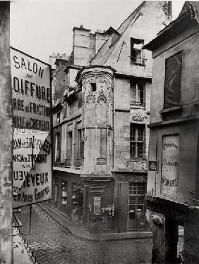 Rue Vieille-du-Temple, Paris, 1858-78 (b/w photo)