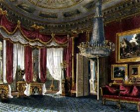 Rose Satin Drawing Room (second view) Carlton House, engraved by R. Reeve (fl.1811-37) from 'The His