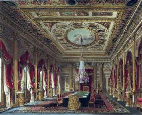The Throne Room, Carlton House, from 'The History of the Royal Residences', engraved by Thomas Suthe