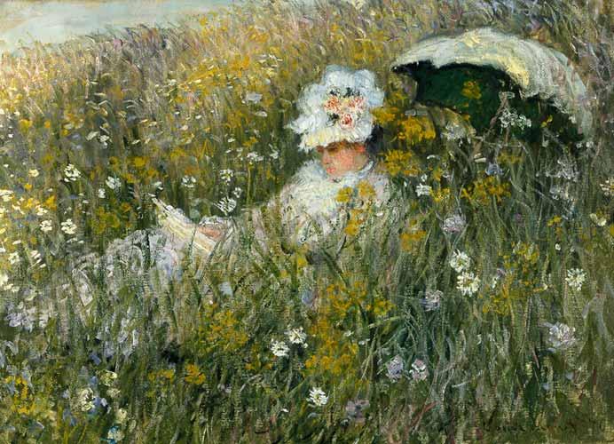 Claude Monet - Pradera de flores
