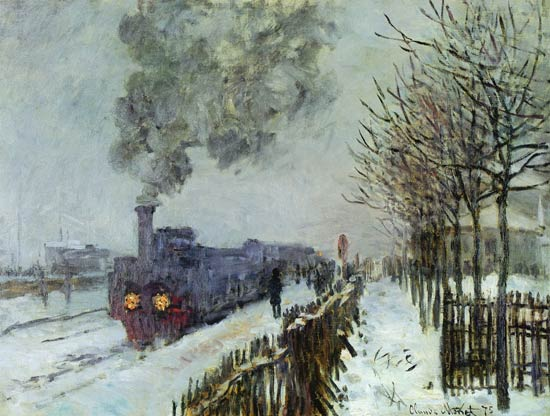 Claude Monet - Tren en la nieve, La Locomotora
