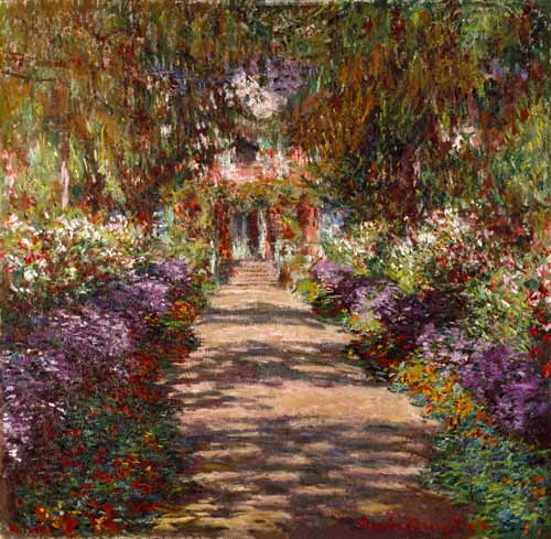 Claude Monet - Paseo en Giverny
