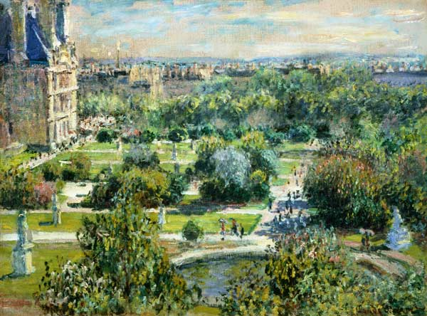 El jard n de tuilerie versalles claude monet for Jardin de la tuilerie