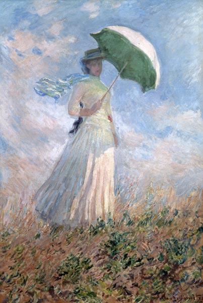 Mujer Con El Parasol Susanne Hoschede Cuadro De Claude Monet En Reproduccion Impresa O Copia Al Oleo Sobre Lienzo