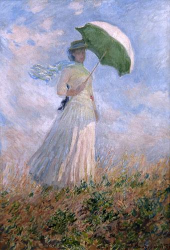 Mujer con el parasol