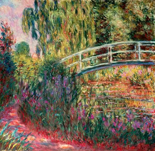 Claude Monet - Puente Japonés en el Jardín de Giverny