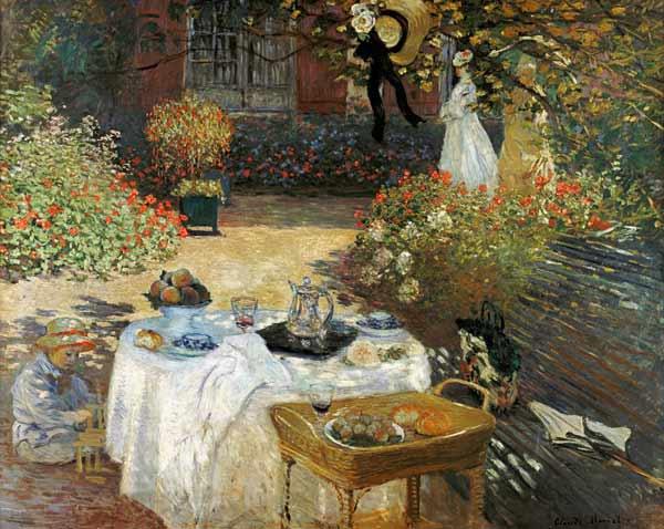 Claude Monet - El almuerzo (en el jardín de Claude Monet en Argenteuil)