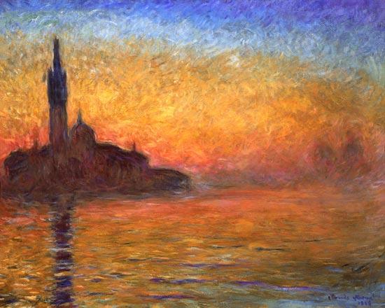 Caída del Sol en Venecia