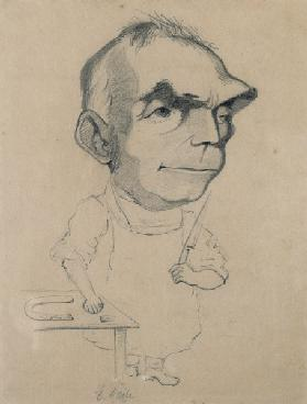 Eugene Scribe (1791-1861) from a photograph by Nadar (pencil on paper)