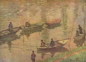 Anglers on the Seine at Poissy 1882